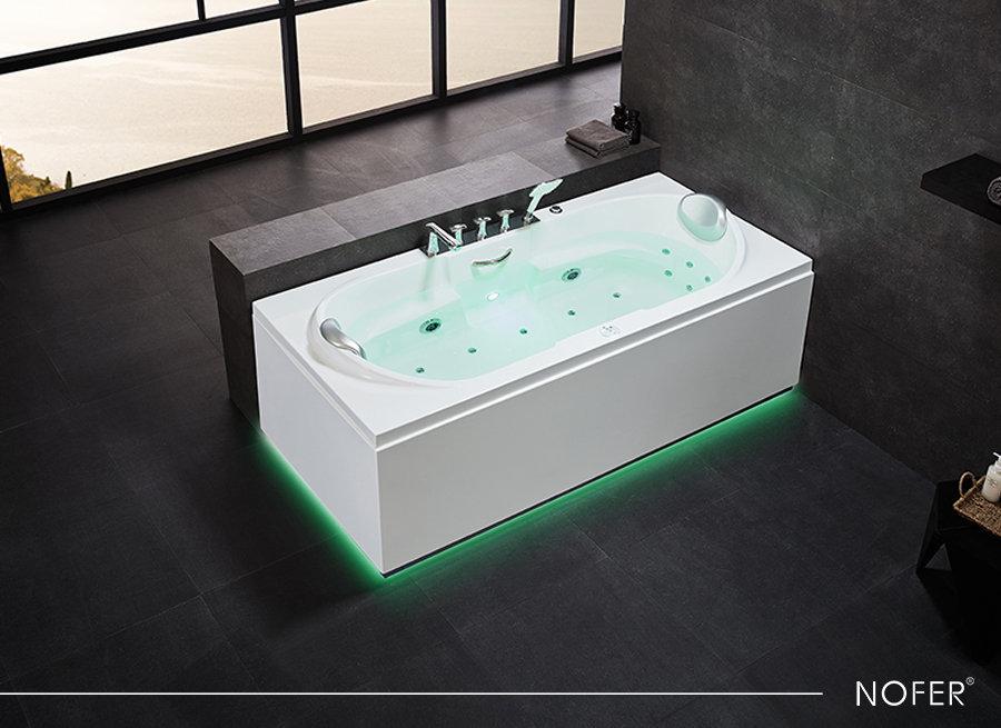 Đèn LED xanh của bồn tắm massage NOFER NG-0829