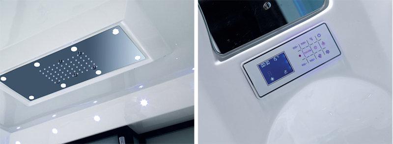 NG-1411 có sen tắm trần và bảng điều khiển hiện đại