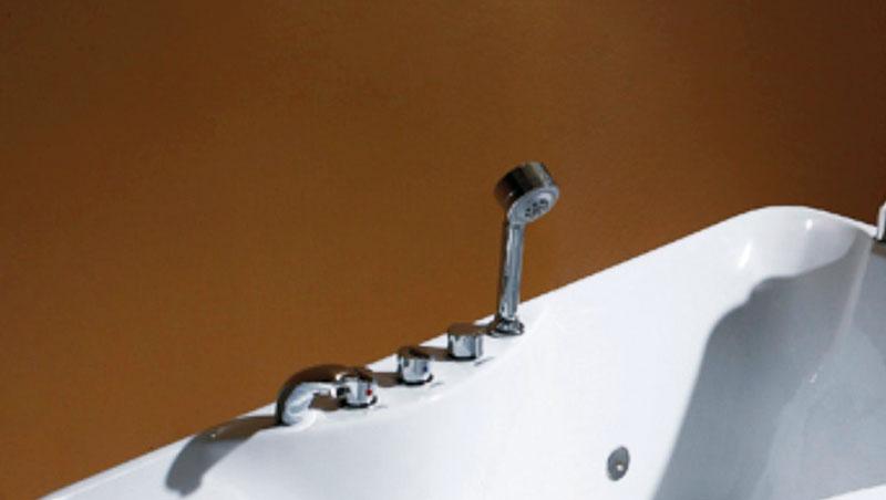 Vòi cấp nước, sen tay và các van điều chỉnh trên thành bồn tắm