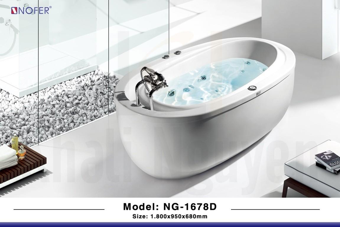 Hình ảnh tổng thể của bồn tắm massage NG-1678D
