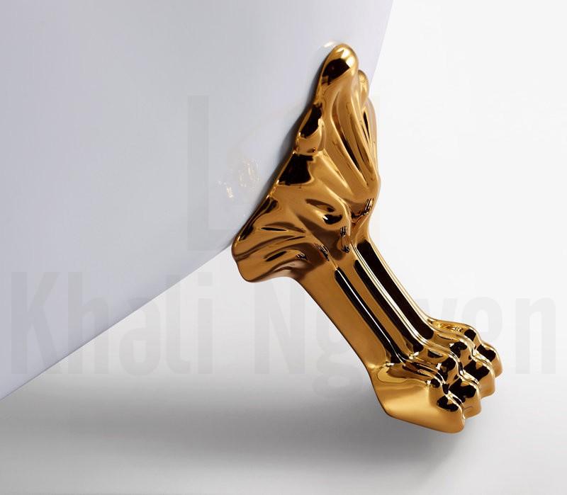 Chân bồn NG-1711 chắc chắn mạ vàng sang trọng