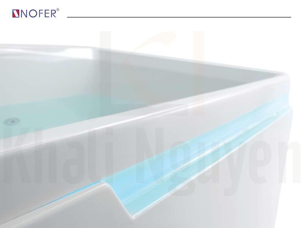 Hệ thống hút nước và sục sủi bên trong lòng bồn tắm massage NG-1820
