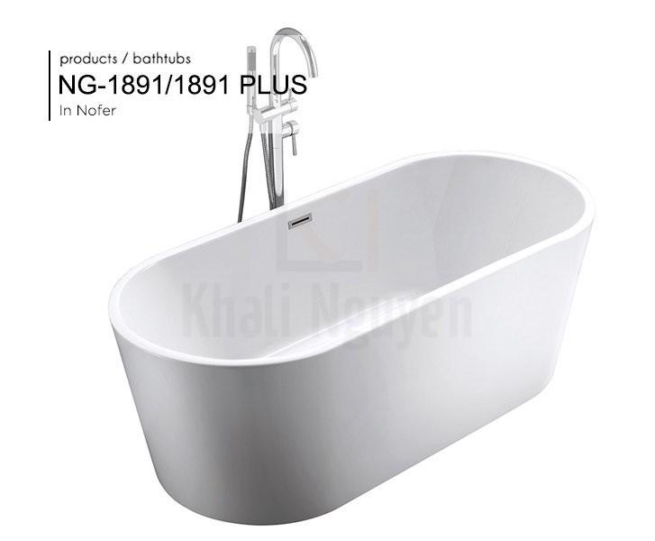 Hình ảnh tổng thể của bồn tắm NG – 1891/ 1891 PLUS