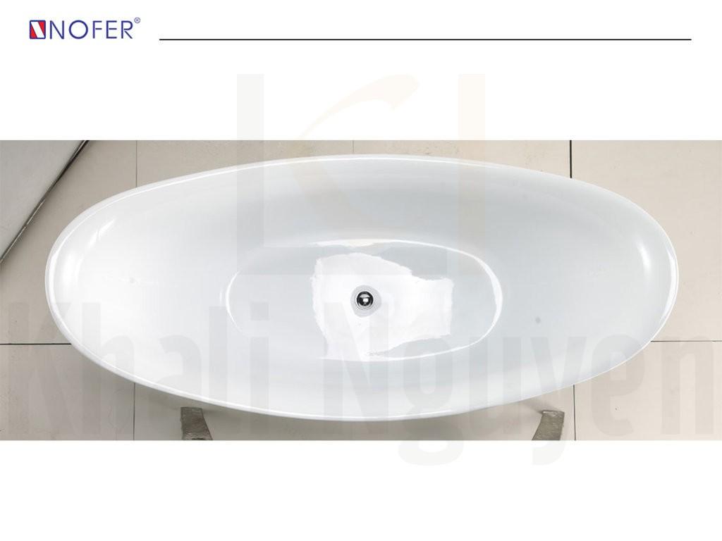 Thân bồn tắm NG-1896S được cấu tạo hoàn toàn từ acrylic.