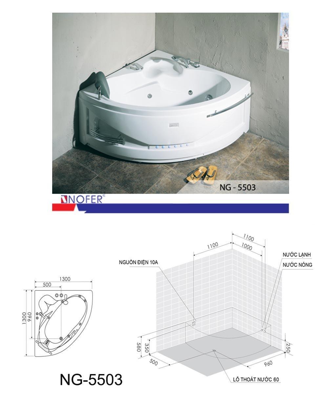 Bản vẽ kỹ thuật bồn tắm NG-5503