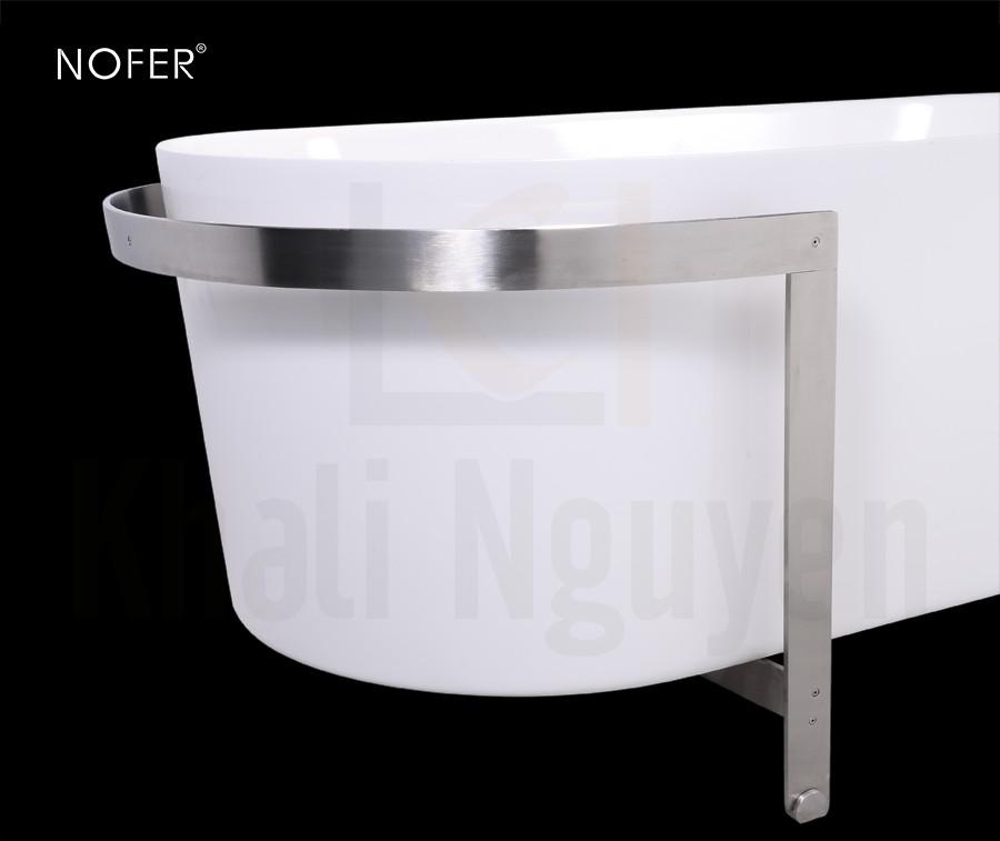 Khung thép bao quanh mặt bồn tắm NL-602