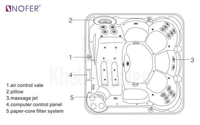 Bản vẽ kỹ thuật bồn SPA-002