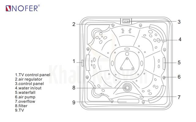 Bản vẽ kỹ thuật bồn SPA-006