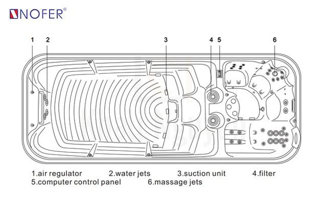 Bản vẽ kỹ thuật Bồn SPA 008