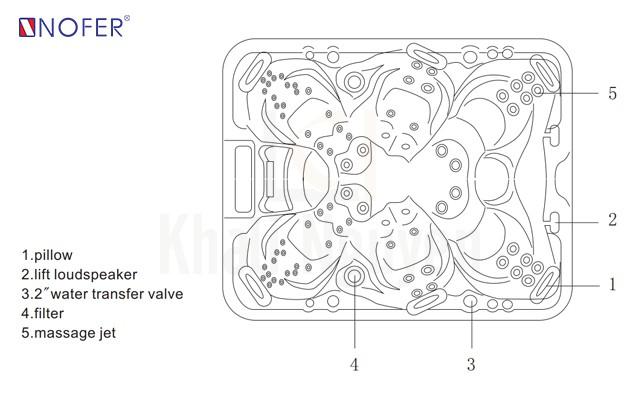 Bản vẽ kỹ thuật bồn SPA-012