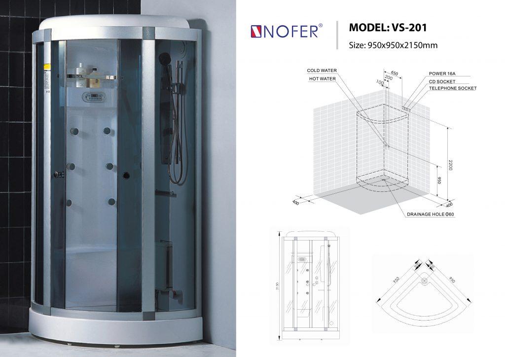 Bản vẽ kỹ thuật phòng xông hơi Nofer VS-201