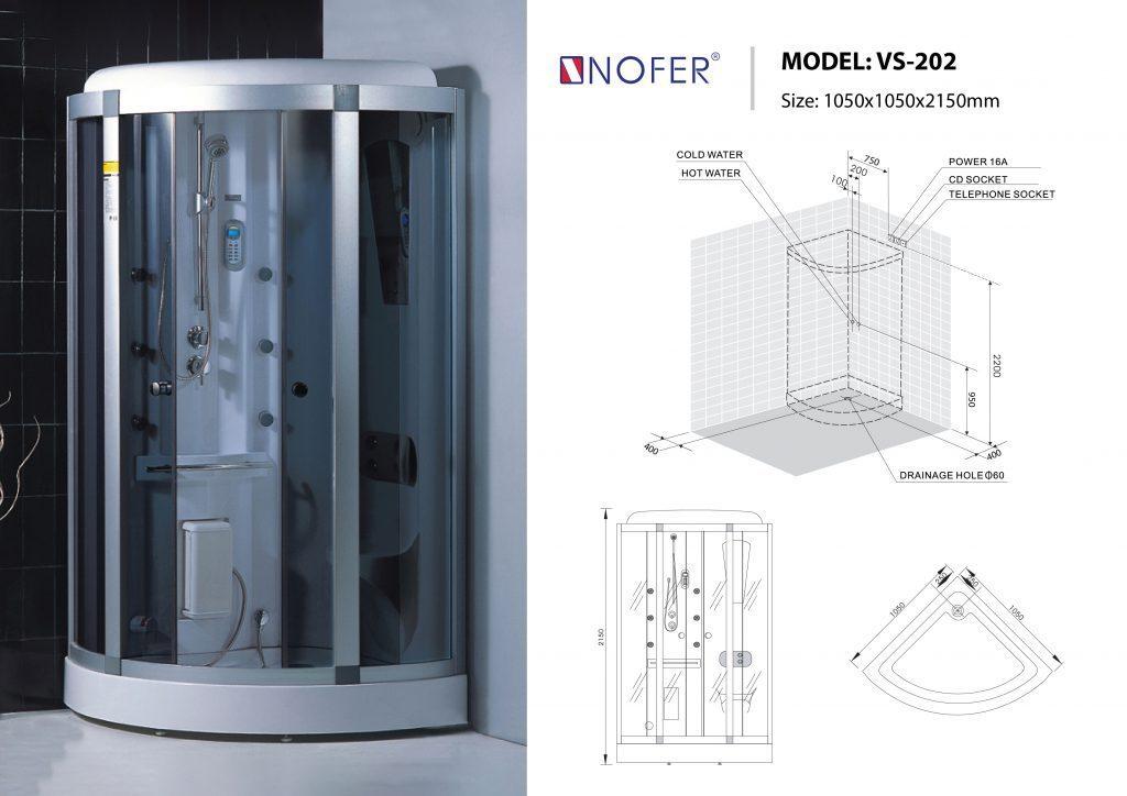 Bản vẽ kỹ thuật phòng xông hơi Nofer VS-202