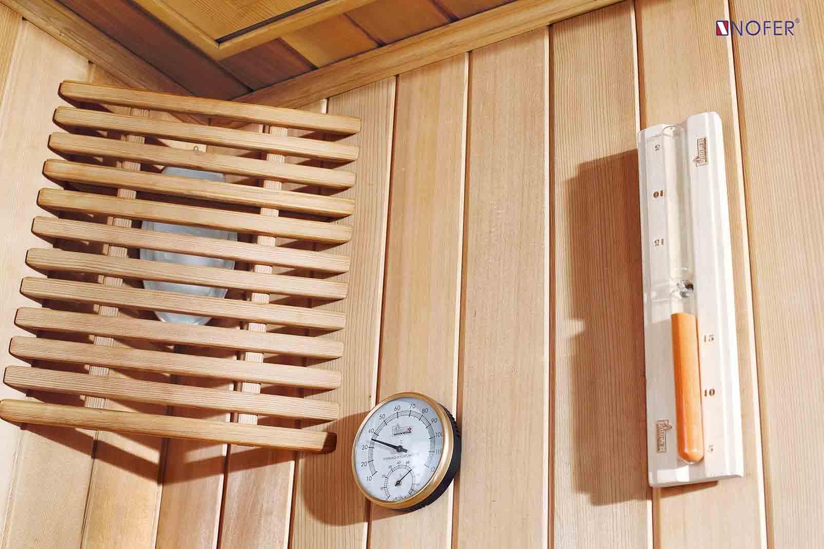 Nhiệt kế, nhiệt ẩm được lắp đặt trong phòng xông hơi VS-89103S