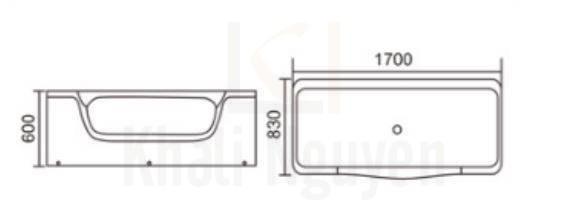 Bản vẽ kỹ thuật Bồn tắm Rangos RG-706