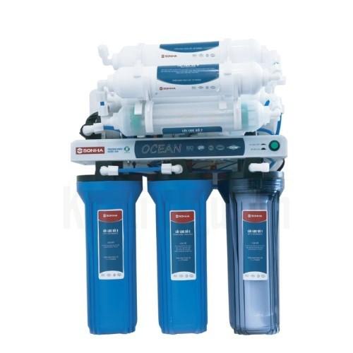 Máy lọc nước RO Ocean 7 lõi lọc không vỏ tủ