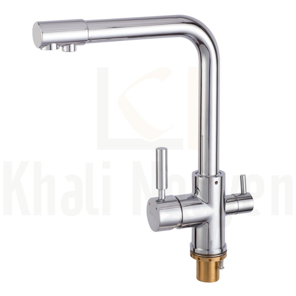 Vòi rửa chén nóng lạnh 3 đường nước THP-516