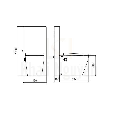 Bản Vẽ Bồn Cầu Thông Minh Viglacera Platinum P.16.320