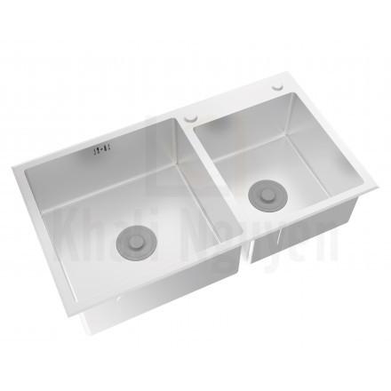 Chậu Bếp Inox Viglacera Platinum P.63.320 2 Hộc