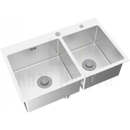 Chậu Bếp Inox Viglacera Platinum P.63.350 2 Hộc